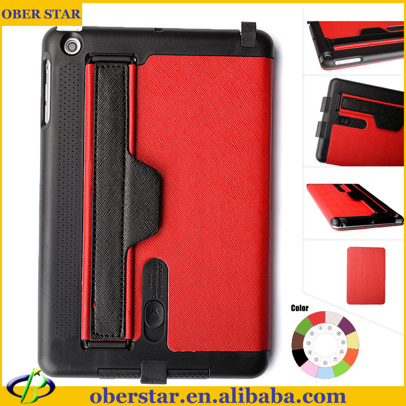 Belt Clip PU Leather Stand Case For IPad mini