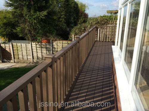 WPC wood plastic composite Balustrade Low Maintenance exterior stair handrail