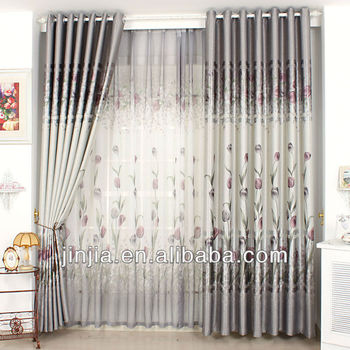 M2288 New design silk effect curtains blackout fabric