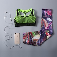 High quality custom print fitness private label sports Colorful Breathable Sexy Capri Yoga Pants Sets