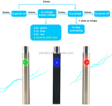 Rechargeable 350mah battery for cbd thc vape pen pre heating battery with 510 thread