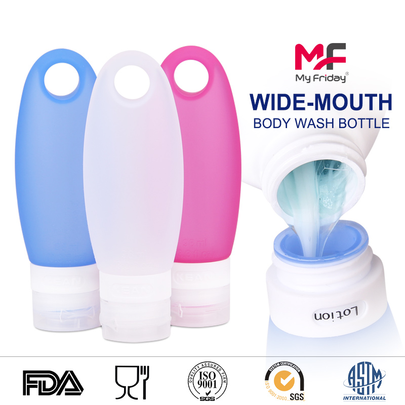 Silicone Cosmetic Containers Portable Leak Proof Soft Travel Shampoo Bottles Bulk