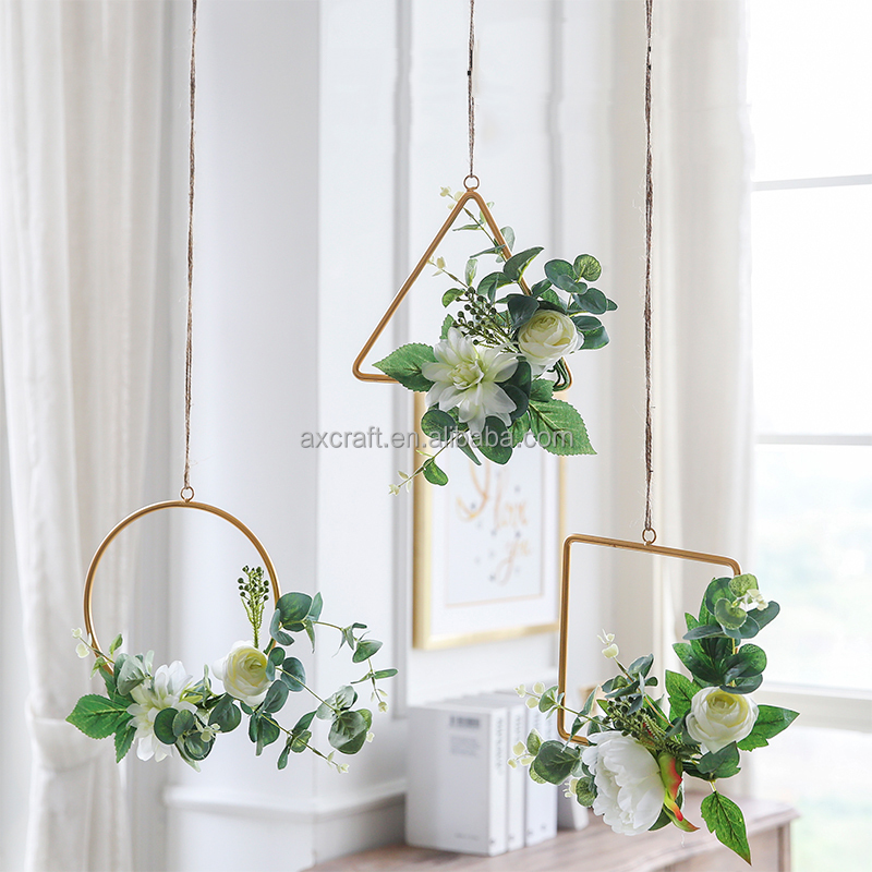 Modern hanging decorative wreath for Christmas and wedding <strong>decoration</strong>