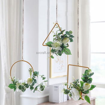 Modern hanging decorative wreath for Christmas and wedding  decoration