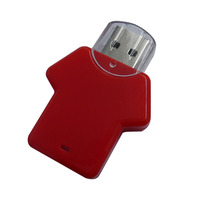 free samples hot low price wholesale gadget plastic colorful 1gb 2gb 4gb 8gb t-shirt usb flash drive