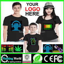 Hot selling High quality led t shirt wholesale