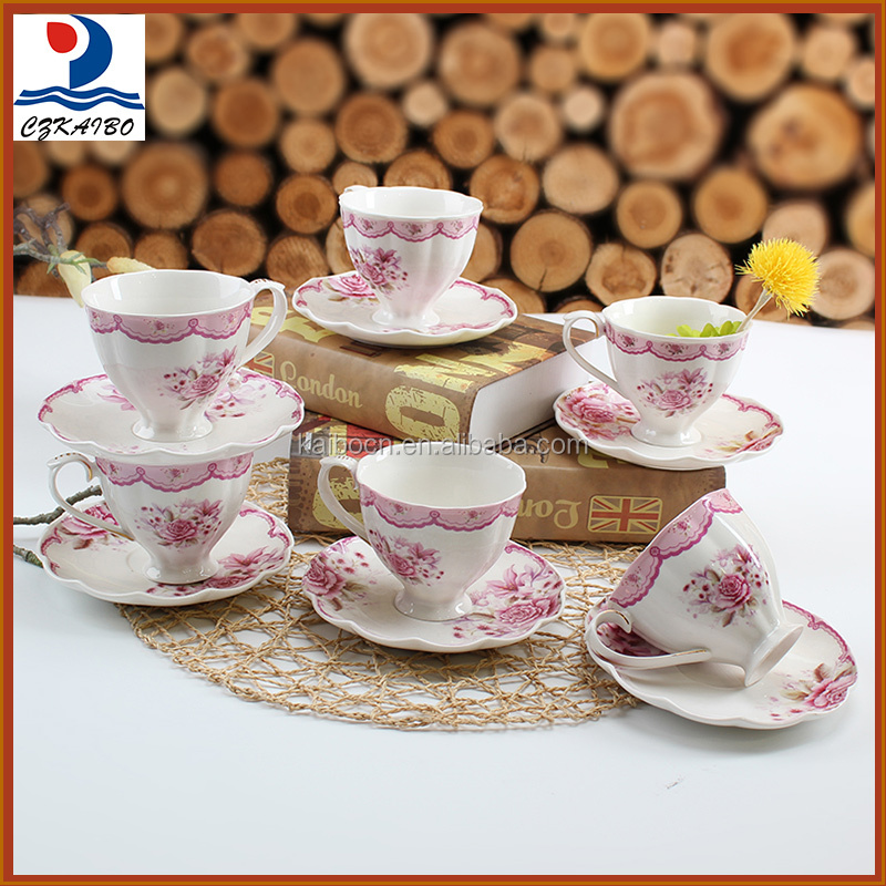 China factory supply flower decorative ceramic tea cup
