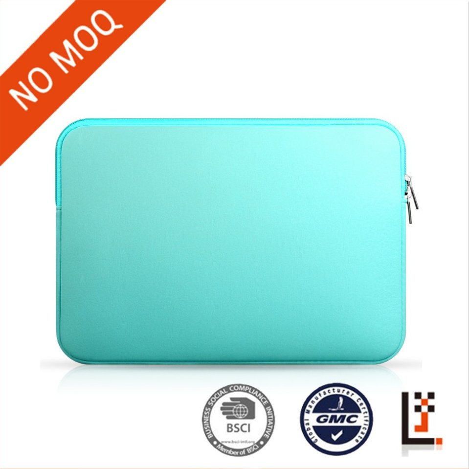 Yiwu stock mint green neoprene tablet portable sleeve case for macbook