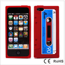 Mobile phone silicone Cassette Tape case for iPhone 5 5G