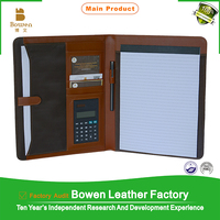 TYWEN - 0140 file folder ring binder / black leather portfolio folder / best quality file folder mechanism