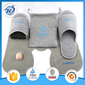 3-PC Travel kit with slipper,inflatable pillow and eyemask in a bag