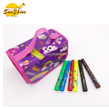 2018 best seller high quality stationery bag set pencil case with 38pcs fruit-scented marker pen