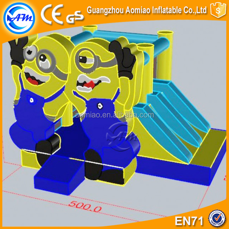 New design inflatable minions bouncy castle commercial boune house