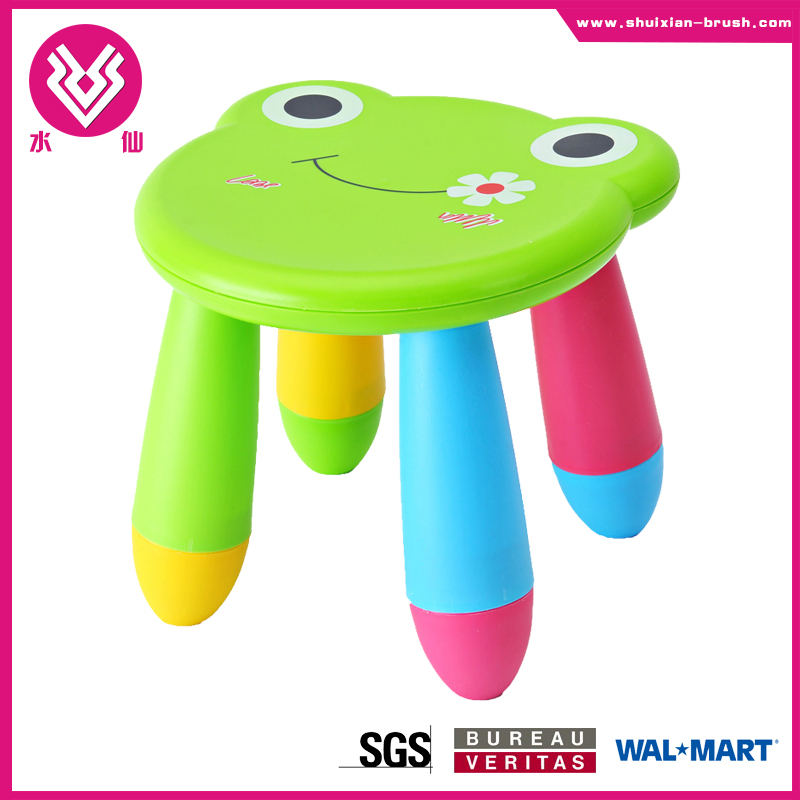 Cartoon animal shaped colorful children stool for kindergarten SGS approval plastic stool supplier