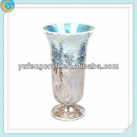 Tall Mosaic glass vase for home decoration