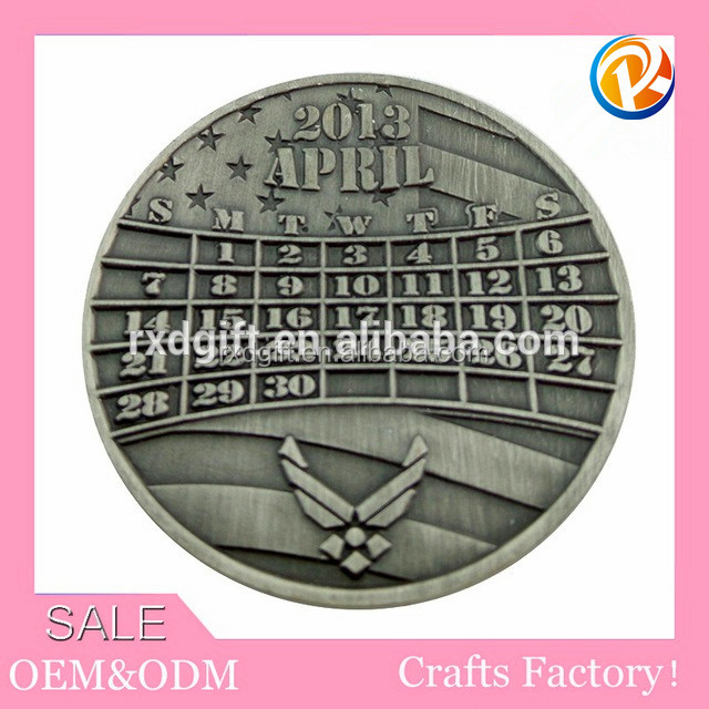 High quality custom metal round tin coin collection