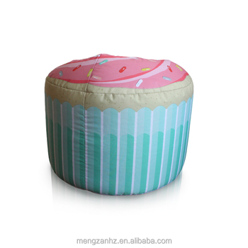 MENGZAN cute pink cake shaped bean bag filling