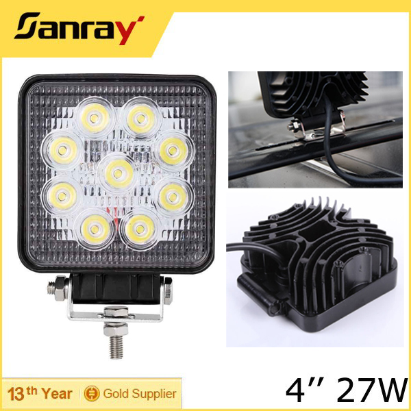 Factory price 12v 27W auto parts Off Road Led Driving Lights for cars