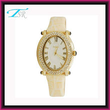 High quality diamond lady watch,vogue watch with rhinestone and leather strap