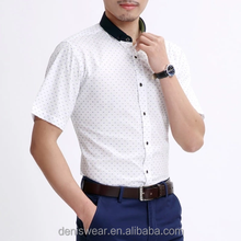 Cotton business slim fit pointed collar latest shirt designs for men