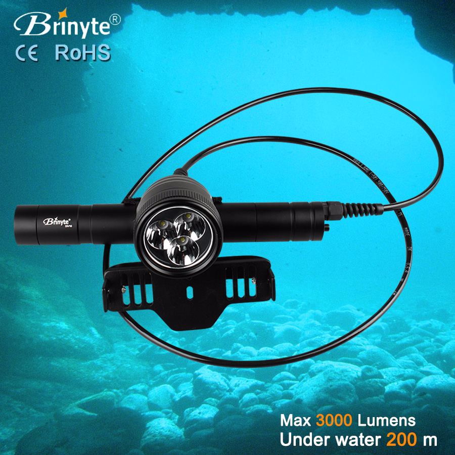 Diver Apparatus DIV10 High Power Professional Scuba Diving <strong>Led</strong> Flashlight dive flashlight