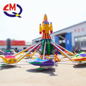 Park amusement rides family with children game equipment 6arms plane rides for sale