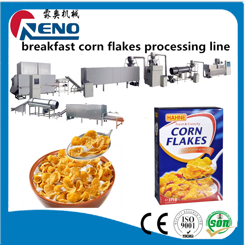 Chocolate curved cup corn flakes manufacturing extruder machine