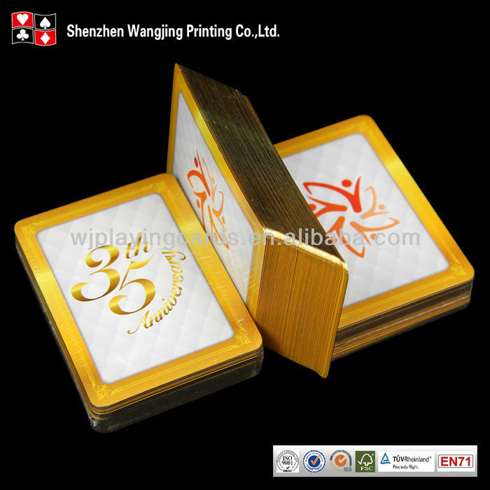 OEM 24k gold dubai Plastic playing cards