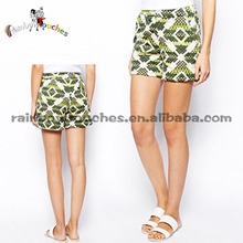 2014 New Style Printed Short Pants Lady Casual Pants