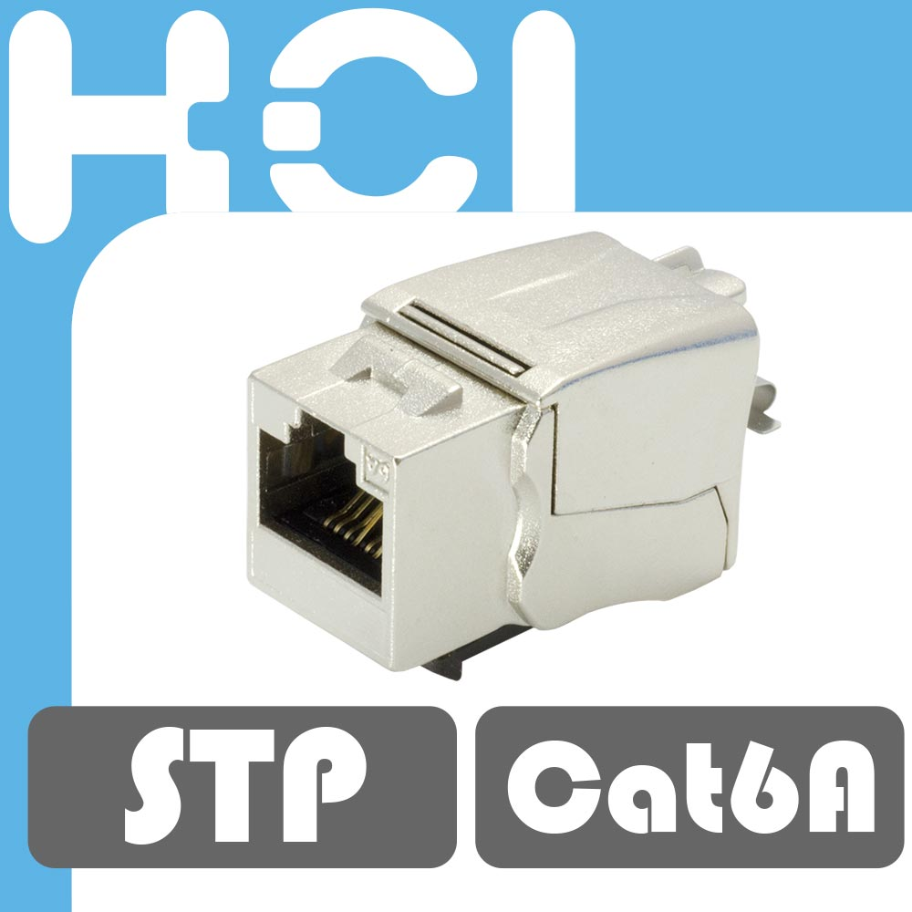 Taiwan Supplier RJ45 STP 8P8C Female Connector Cat6A Modular Keystone Jack