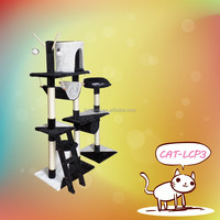 hot selling fancy light cat tree with cute decoration,for pets play and rest