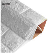 Home Decoration Easy Installation Easy cleaning Fireproof soundproofing foam wall 3D Brick Wallpaper foam Wall panels