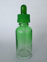 50ml gradient green eye dropper bottle with childproof cap