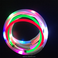 optic fiber super brighter led usb rechargeable Silicone dog collars