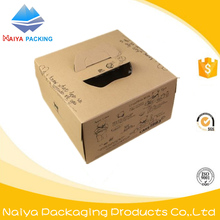 food packaging boxes of corrugated cardboard disposable paper cake box