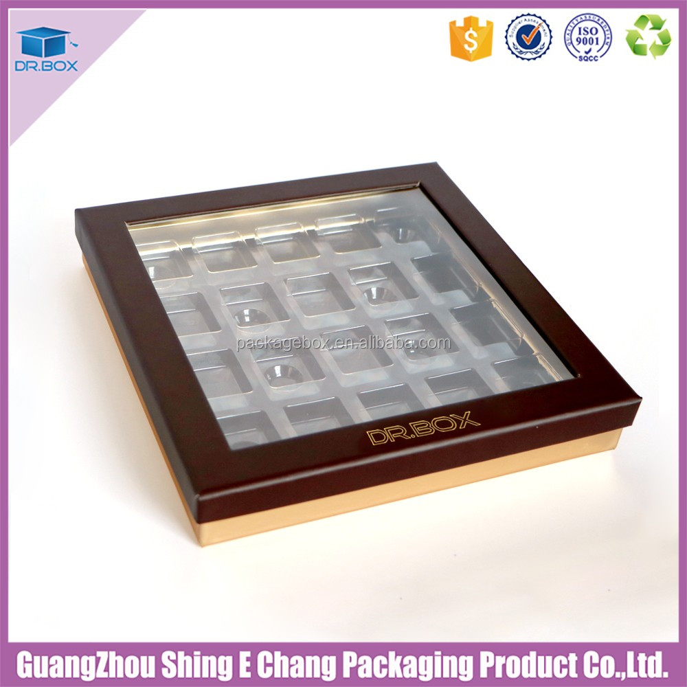 with blister Inserts / Plastic trays for chocolate boxes / chocolate bar packaging material for luxury chocolate boxes packaging