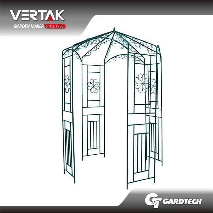 USA market good quality metal garden arch with bench