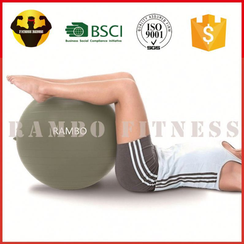 RAMBO Supplier Anti Burst Swiss Yoga Fitness Gym Ball With Handle