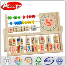 Educational wooden toy for kids mutifuctional abacus