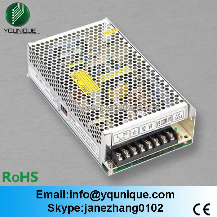 Factory Direct <strong>Q</strong>-120B CE RoHS approved 12v Quad output voltage ac dc power supply