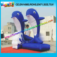 2 Giant Inflatable Dolphins, Cute Inflatable Advertising Animal For Sea Park
