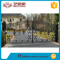 2015 latest main gate design cheap price simple modern house steel gate design/iron gate designs/indian house main gate designs