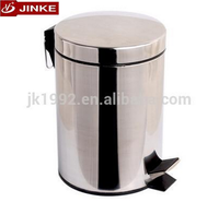 Stainless Steel Kitchen Waste Dustbin, Foot Pedal Trash Can With Descending Device