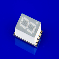 ultra thin minimal common anode 0.2inch single digit smd led 7 segment display red color specification
