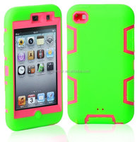 New Hard Case For Apple ipod Touch4 3 in 1 Hybrid Rubber Impact Cover
