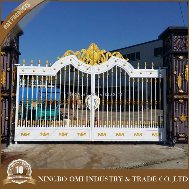 2016 New Product single wrought iron entry doors/Garden Arch Gate, Aluminum Gate