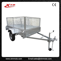 China origin 8x5 semi trailer cargo trailer with big toolbox