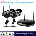 Surveillance System 2CH Wireless WIFI NVR Kit With 2pcs P2P IP Camera