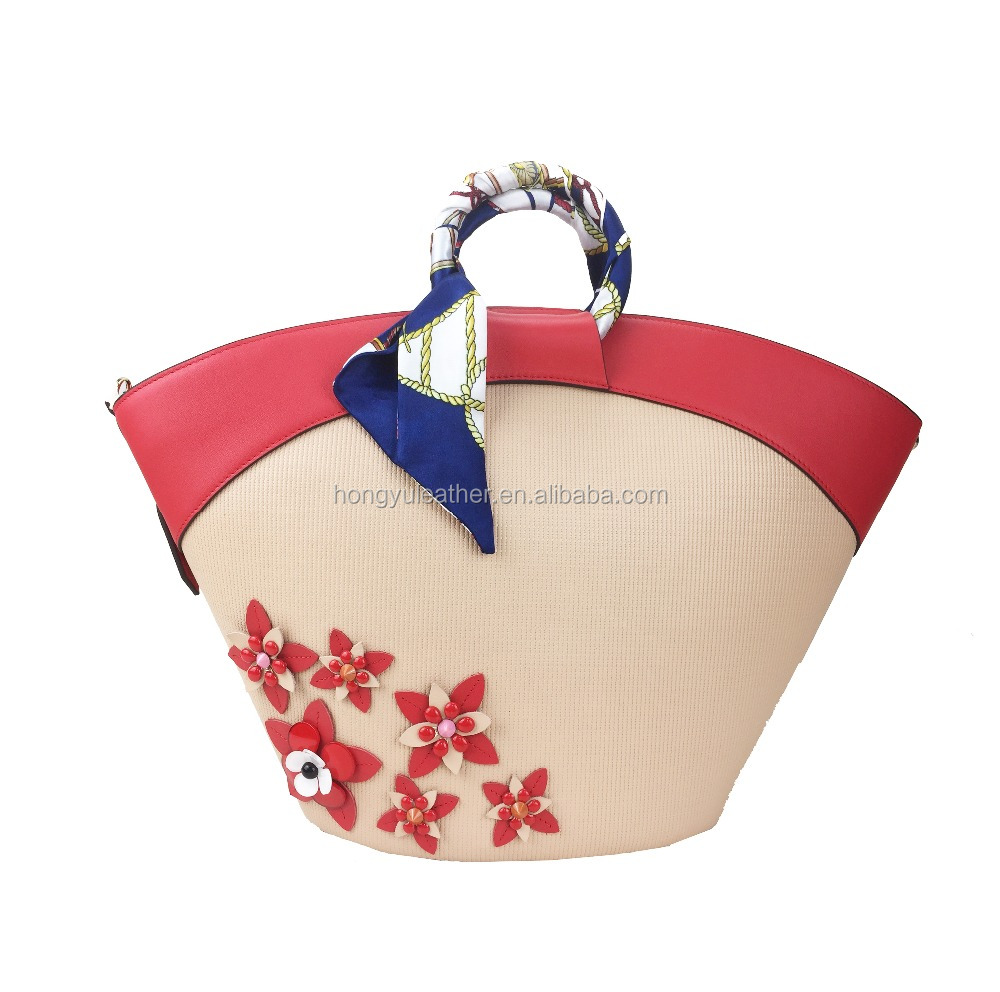 Factory direct sale flower design handbags for lady