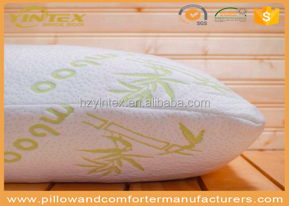 Best selling high quality healthy massage help sleeping natural shredded memory foam bamboo pillow